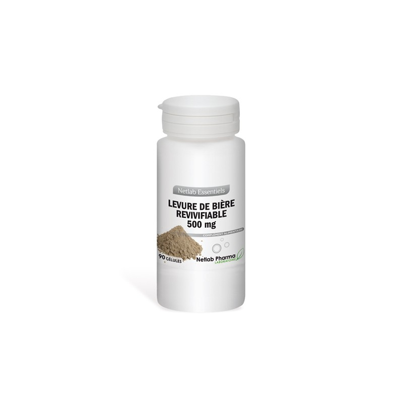 Levure de bière revivifiable 500 mg 90 gélules
