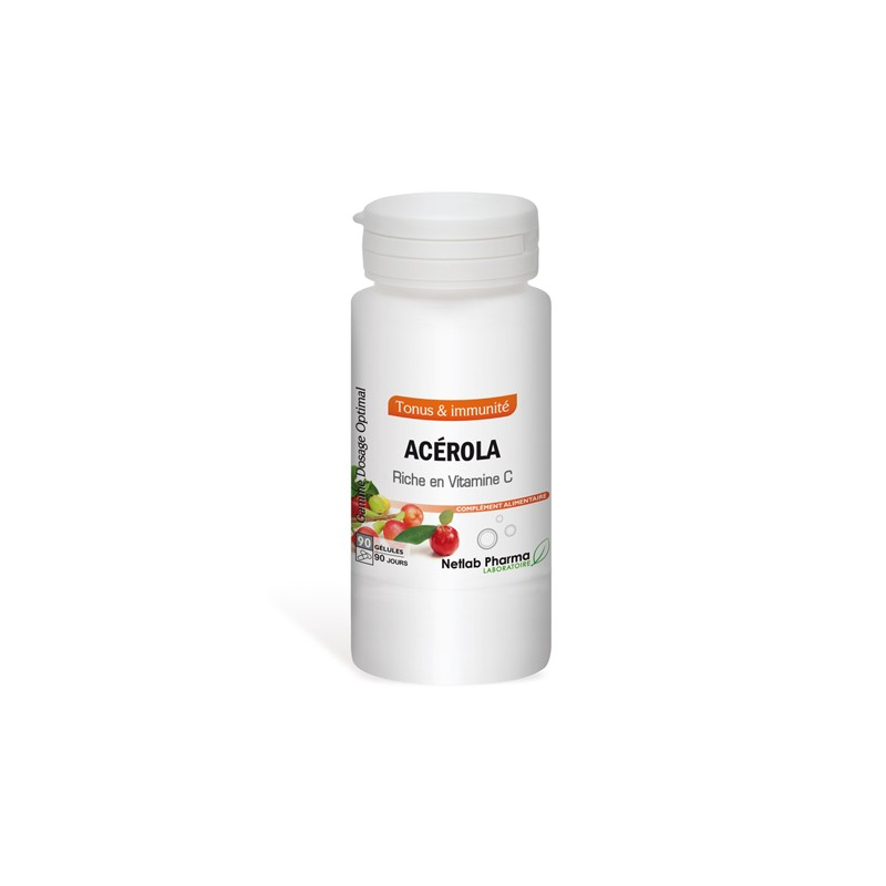Acérola 90 gélules Dosage Optimal