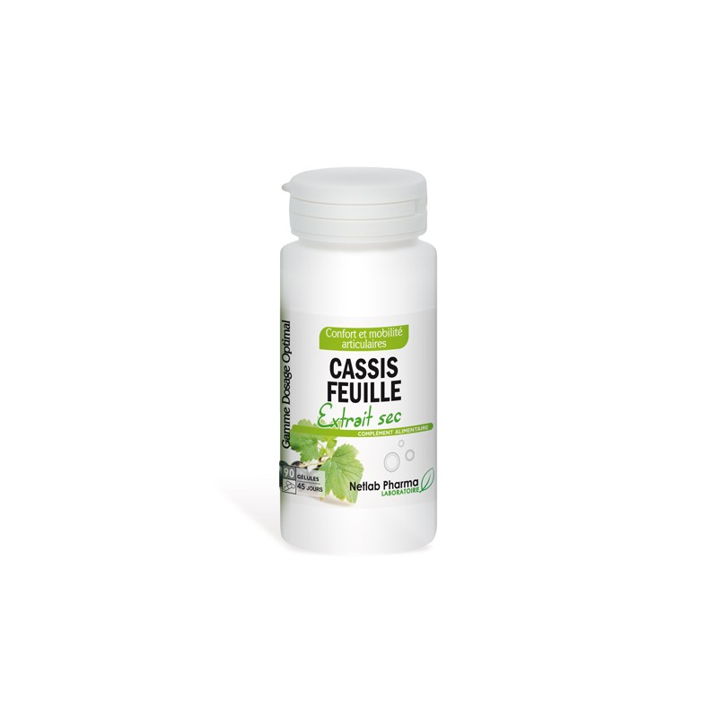 Cassis Feuille 90 gélules Dosage Optimal