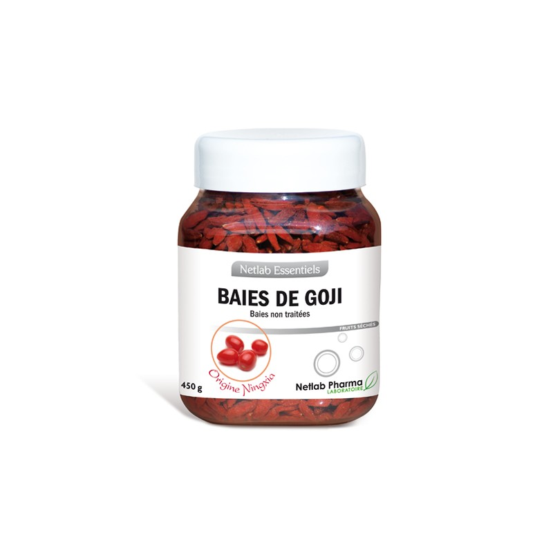 Baies de Goji pot 450 g Netlab Essentiels